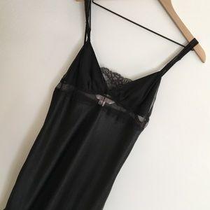 Victoria's Secret | Black Satin Lace Nightie | M